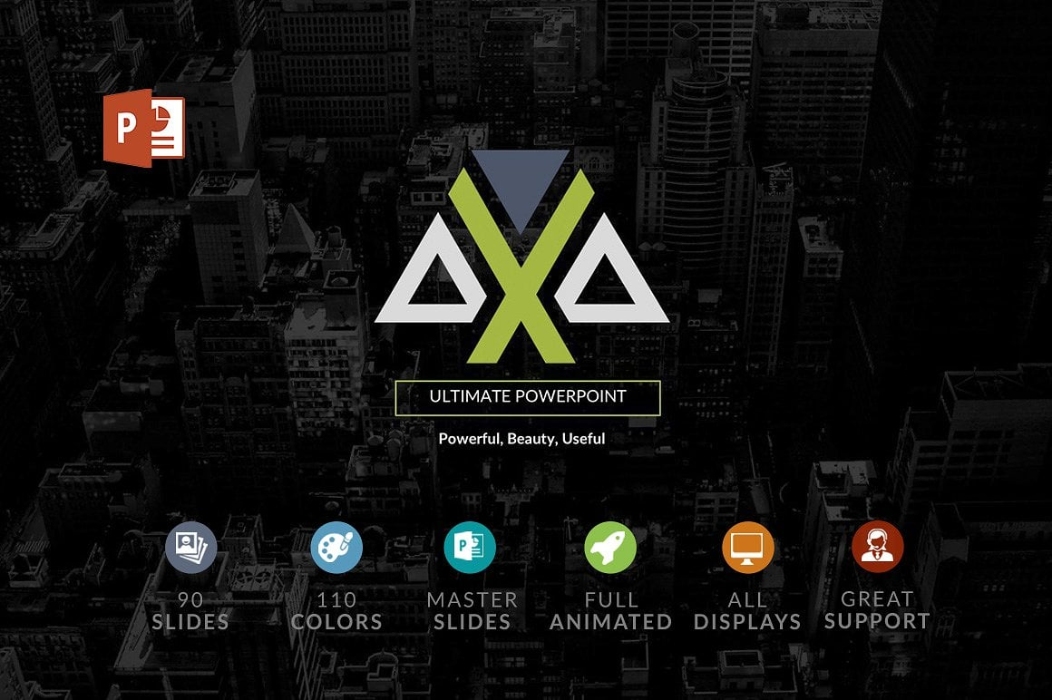 20 Powerpoint Templates with 81% OFF - Axa 01