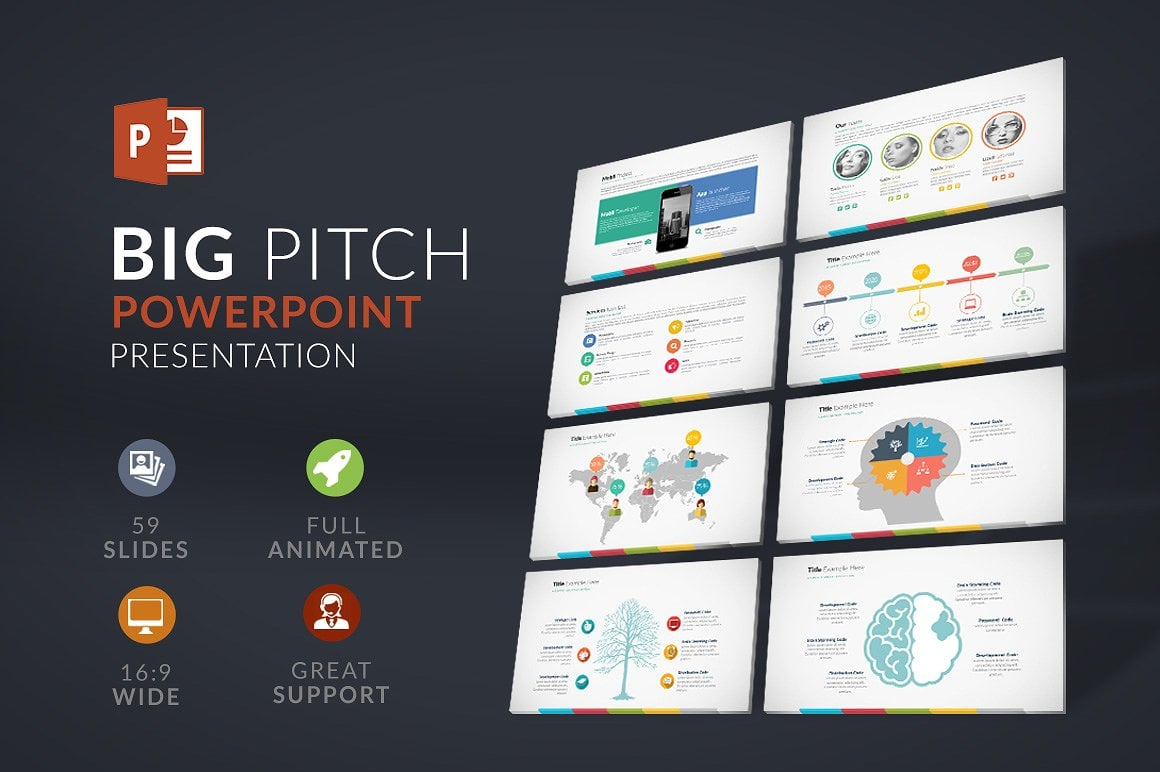 20 Powerpoint Templates with 81% OFF - Big Pitch 01