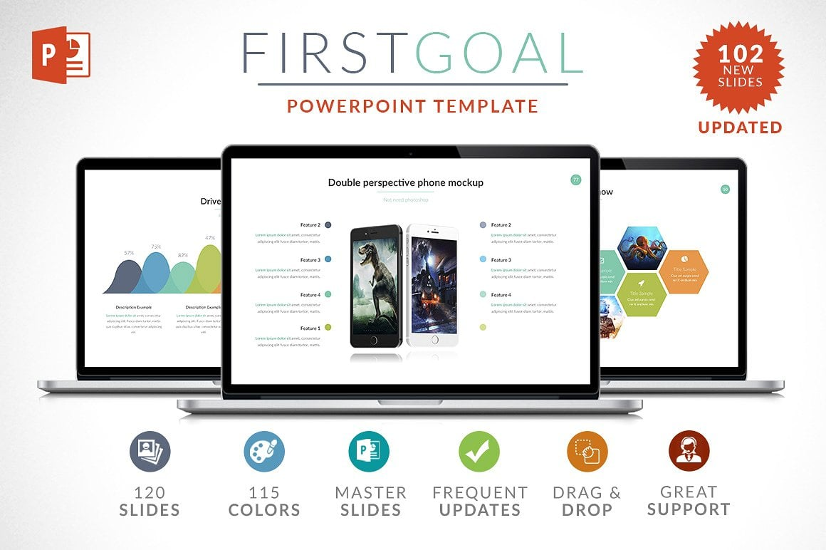 20 Powerpoint Templates with 81% OFF - First Goal 01