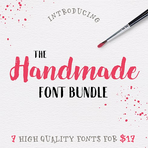 Hand Drawn Fonts - 7 High Quality Fonts for $17 - Handmade font bundle 1