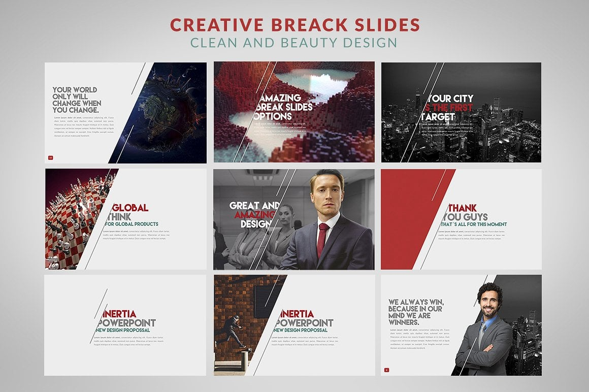 20 Powerpoint Templates with 81% OFF - Inertia 04