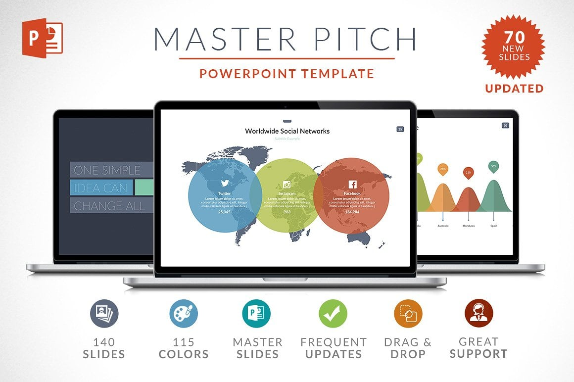20 Powerpoint Templates with 81% OFF - Master Pitch 01