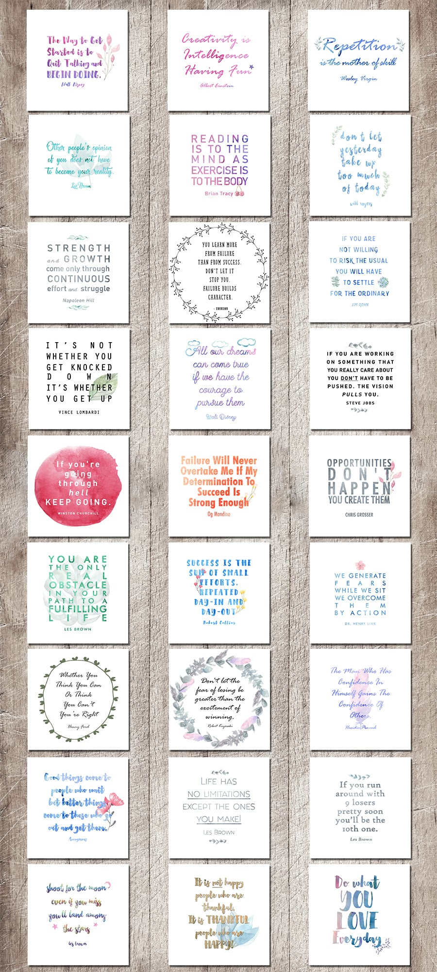 Life Planner: Make 2018 Your Best Year Yet Collection - Motivational Quotes Full preview 900x2000px 4a