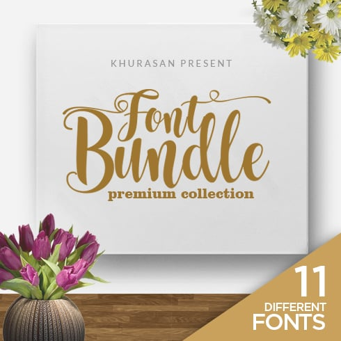 11 Lovely Premium Fonts - Preview1