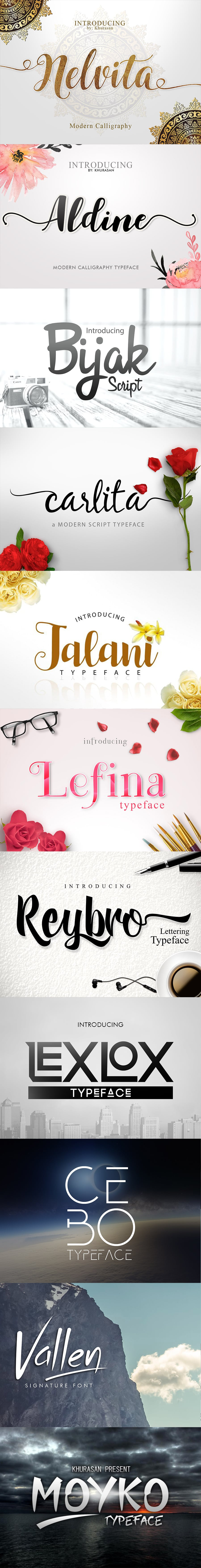 11 Artistic Fonts - Premium Quality Collection. Only $10 - Preview4