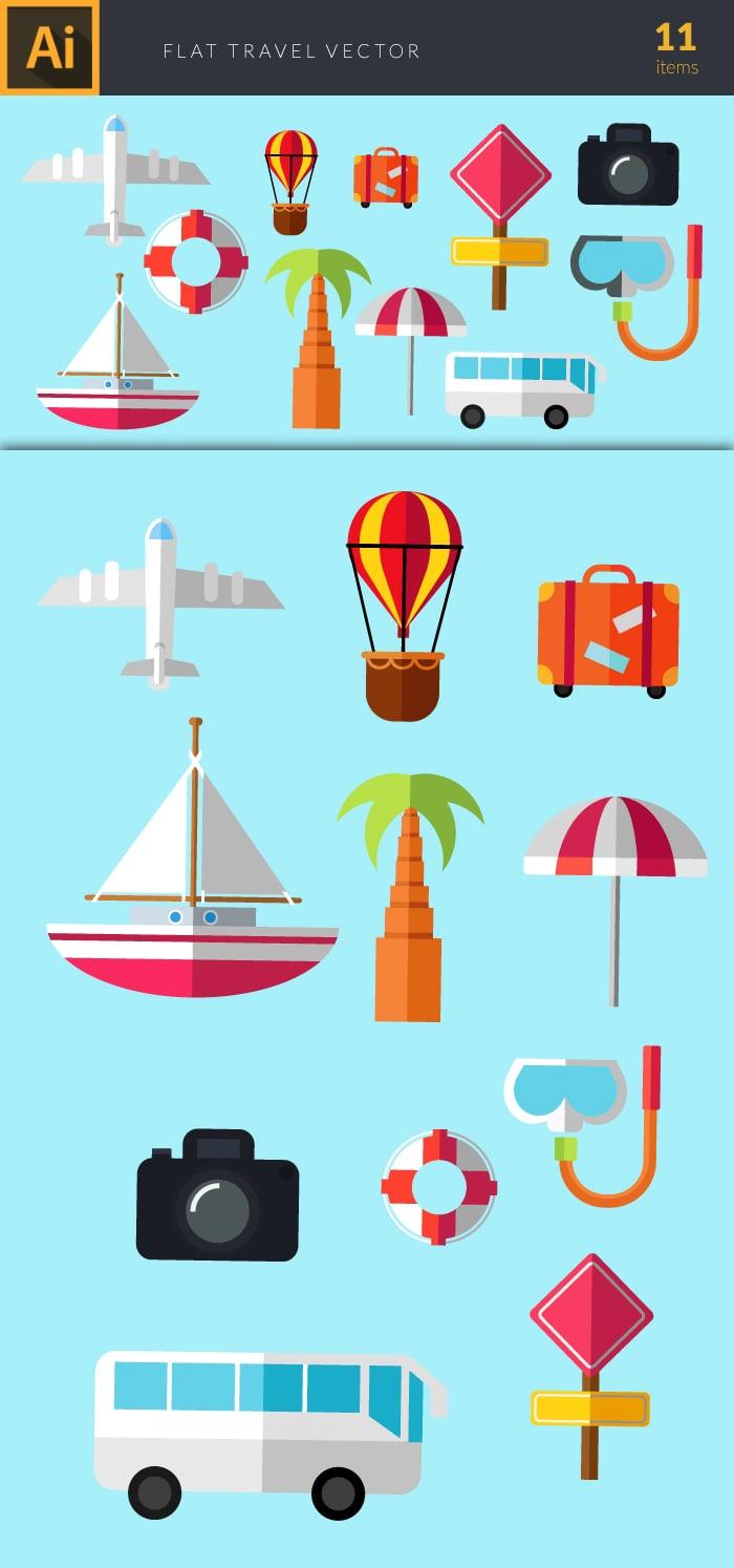 The Best Mega Graphics Bundle. 1000+ Premium Items for $49 - design tnt travel set 2 large preview