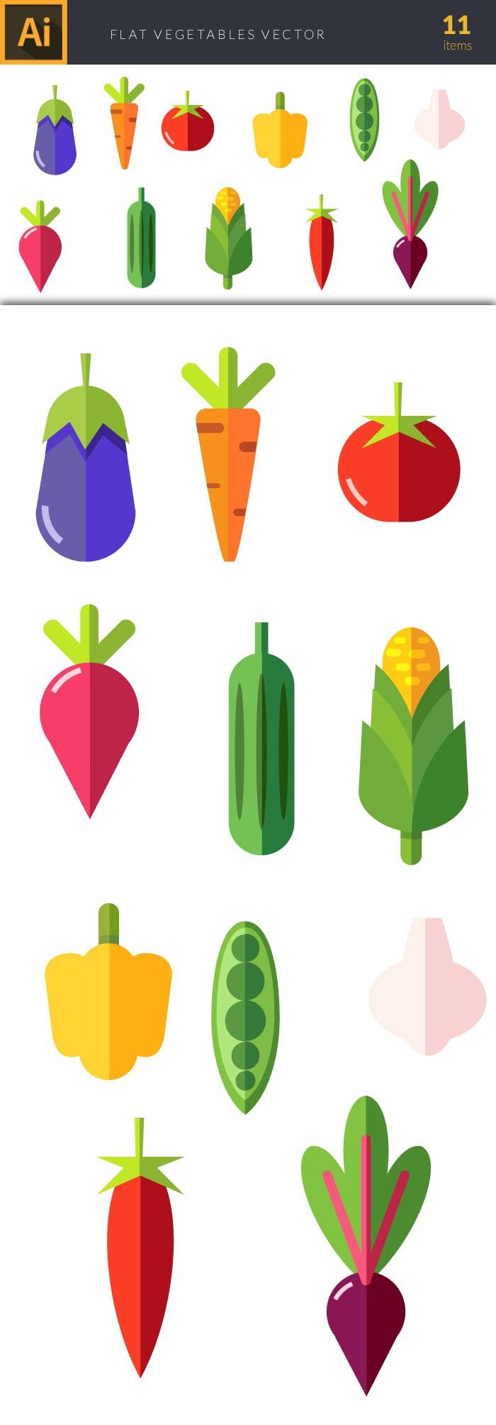 The Best Mega Graphics Bundle. 1000+ Premium Items for $49 - design tnt vegetables set 2 large preview