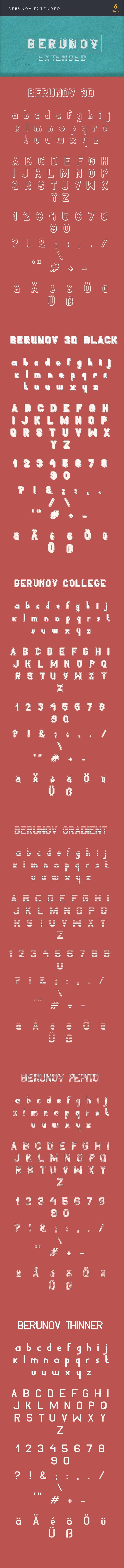 The Best Mega Graphics Bundle. 1000+ Premium Items for $49 - font berunov extended large2