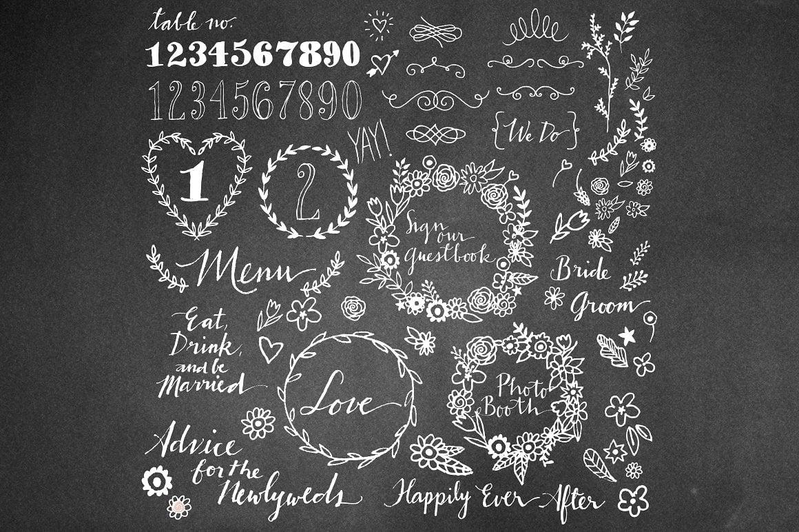 Love Megapack: over 250 wedding elements vector - img2