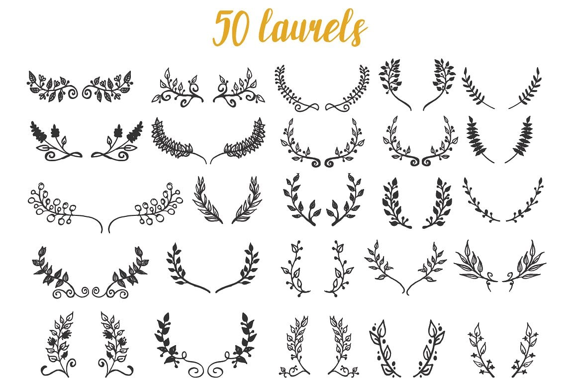 1900+ Best Hand Drawn Flowers And Patterns Bundle 2020 - $24 - prev3 01