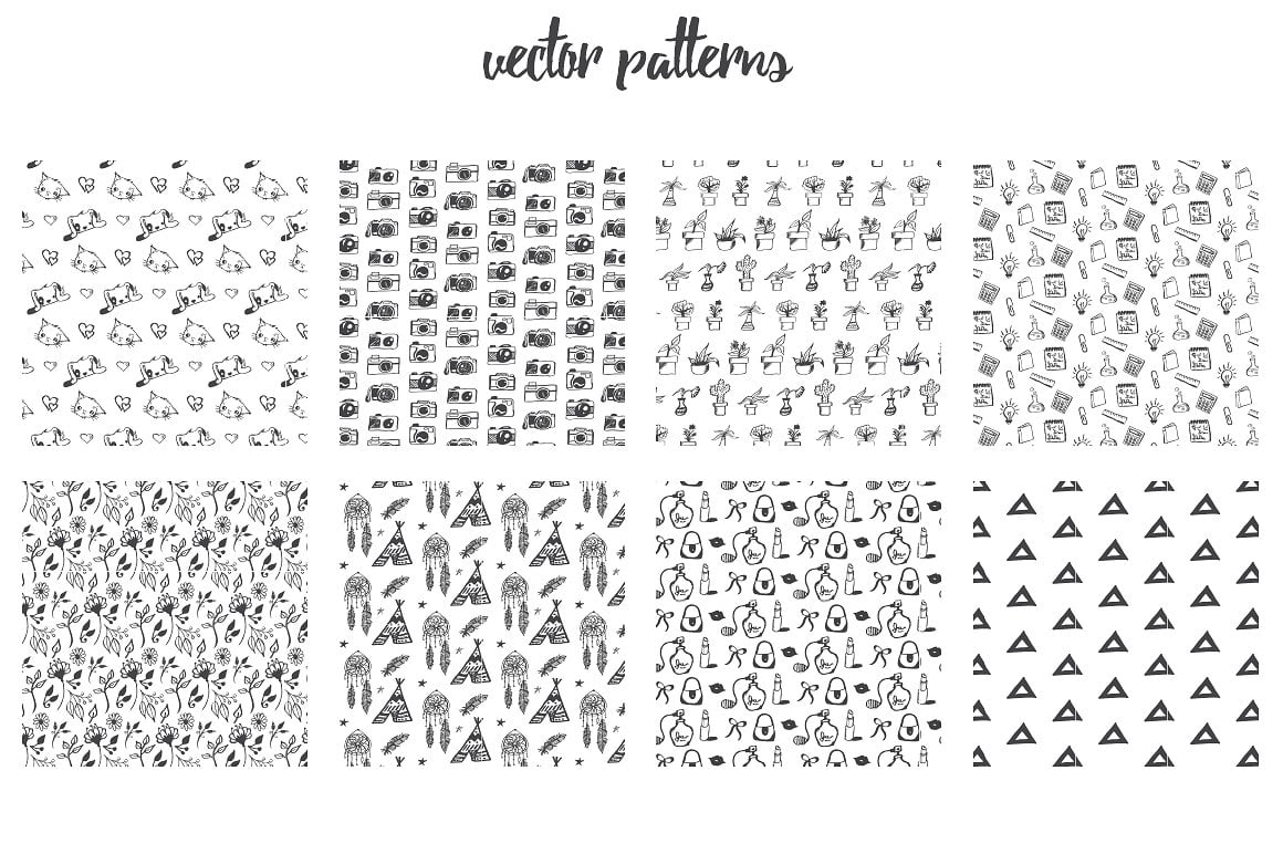 1900+ Best Hand Drawn Flowers And Patterns Bundle 2020 - $24 - rfbip8