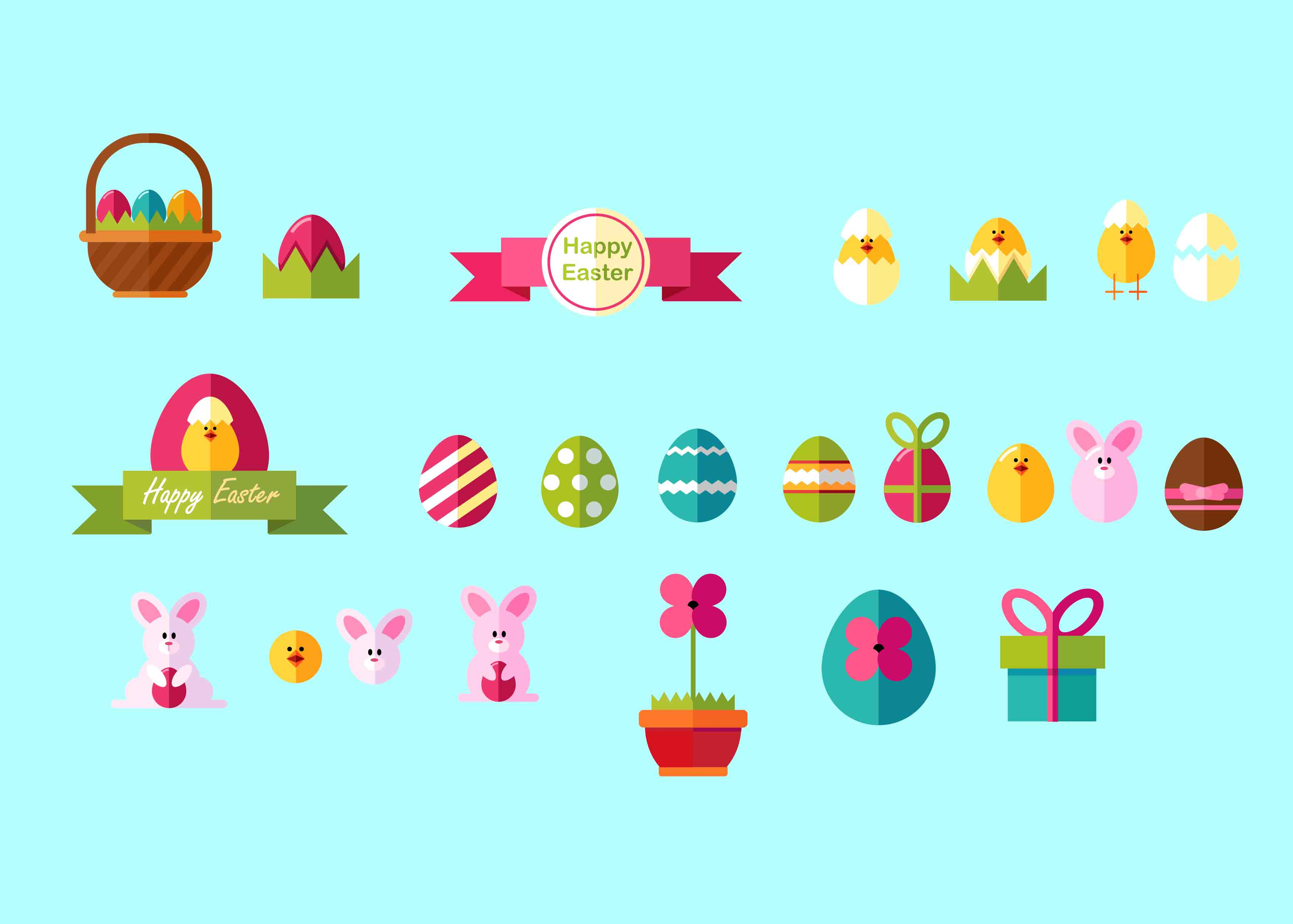 Happy Easter Images Clip Art - Just $15 For a Bundle - 22 vectorstock easter