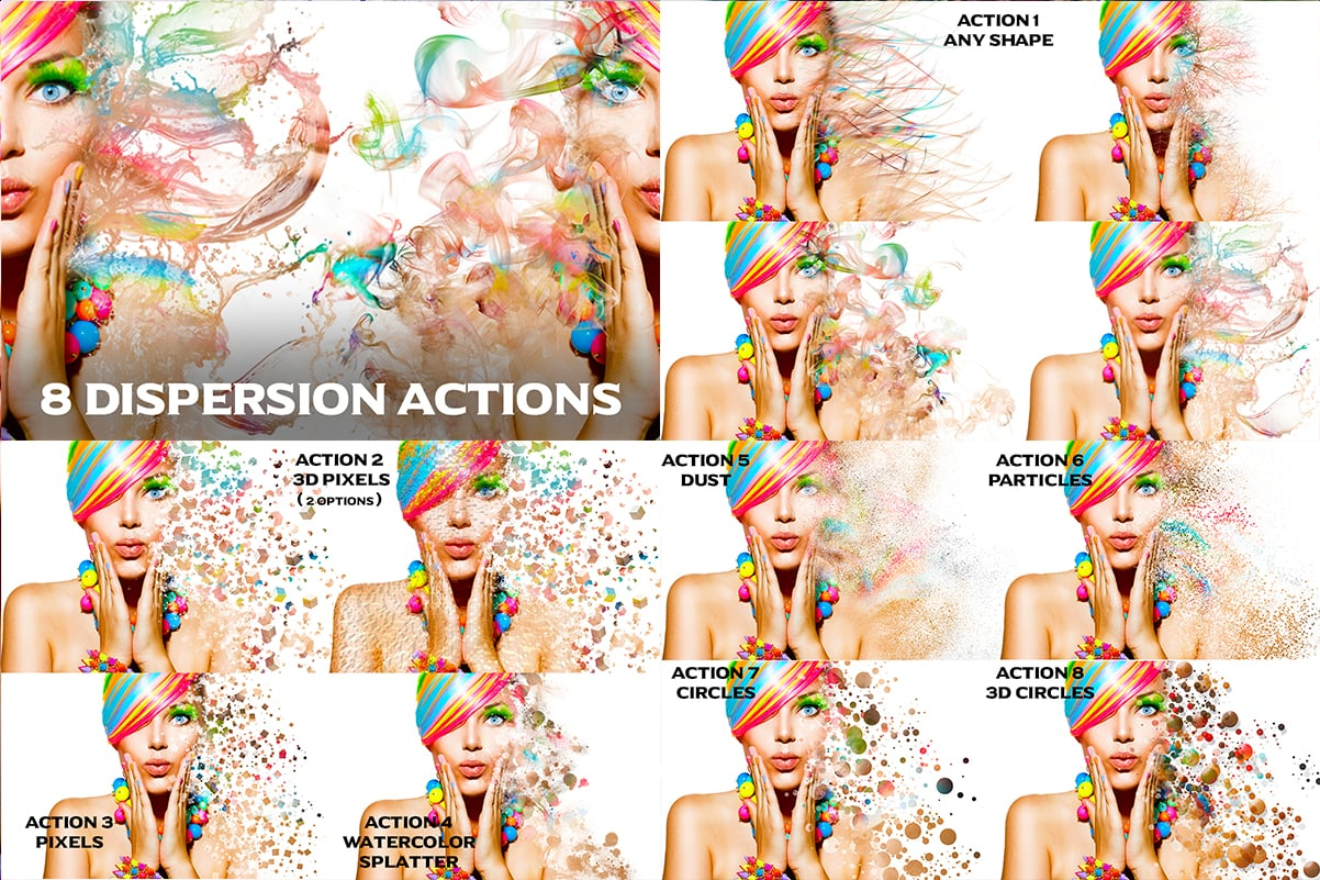 38 Dispersion PhotoShop Actions with 50% OFF - 32