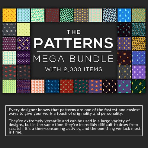 Modern Pattern Designs - Mega Bundle with 2000 Patterns - 490x490 1