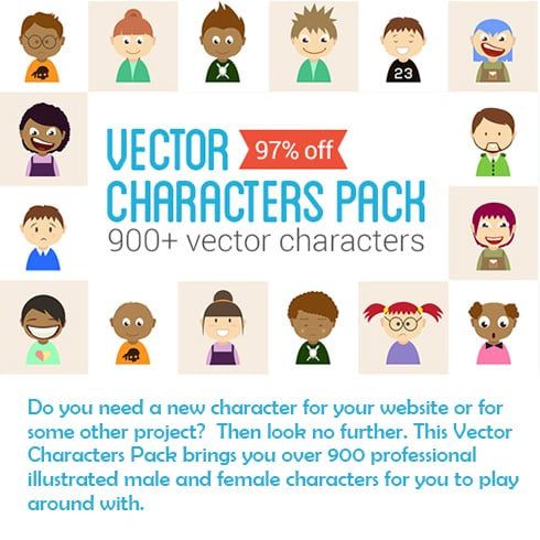 900+ Vector Characters Pack – Only $9 - 490x490 9