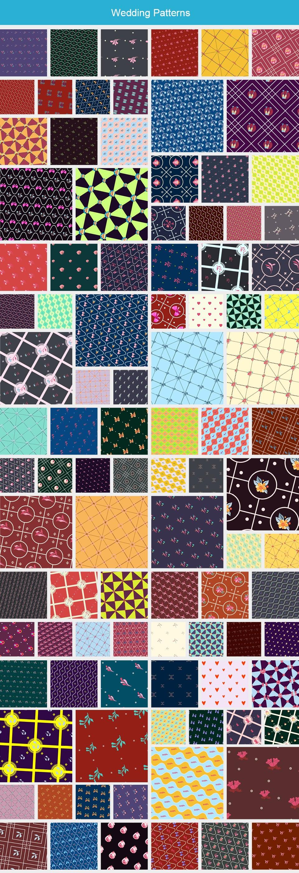 Modern Pattern Designs - Mega Bundle with 2000 Patterns - Large Preview Wedding