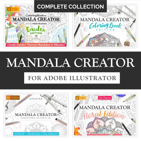 Mandala Creator Collection - over 800 Patterns - Mandala Creator 1