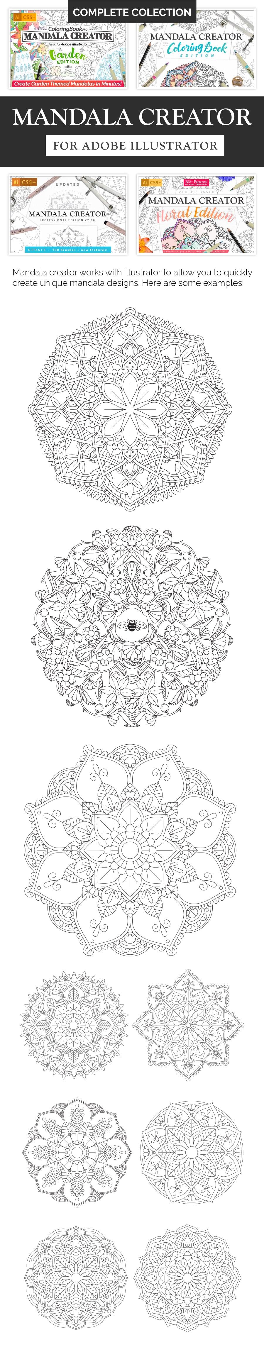 Best Mandala Creator in 2020. Bundle Collection - 800+ Patterns. Only $29! - Mandala Creator long 4