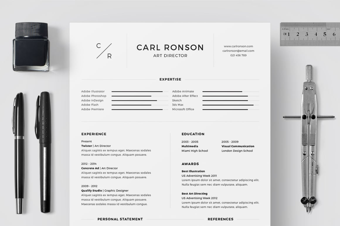 Best Minimalist Resume Template in 2020 - Preview 1