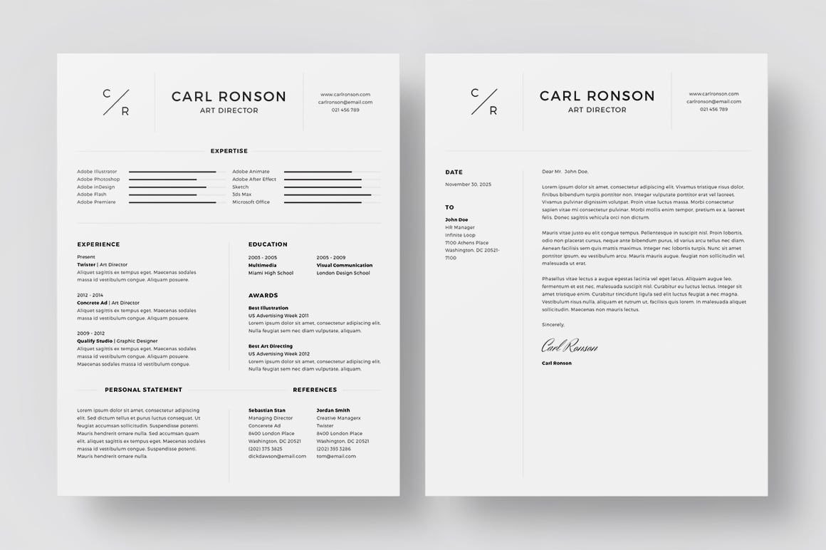 Best Minimalist Resume Template in 2020 - Preview 2