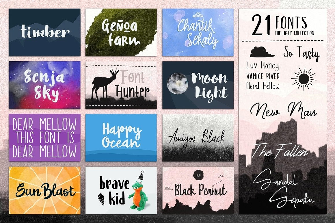 Fontbox - Elements for Web Design - Fonts, Logos, Watercolors - designs fontbox 2