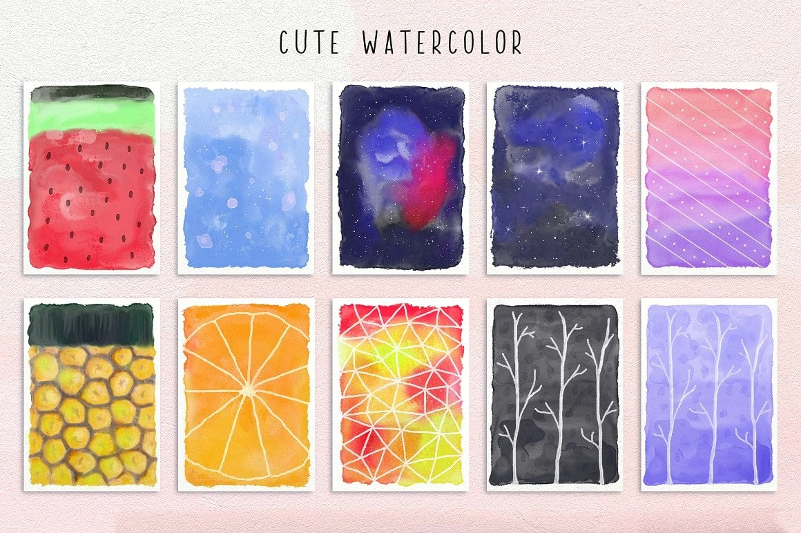 Fontbox - Elements for Web Design - Fonts, Logos, Watercolors - designs fontbox 6