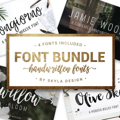 Top 15 Weird Fonts for Appealing Projects 2021 - skyla design font bundle 490px 01