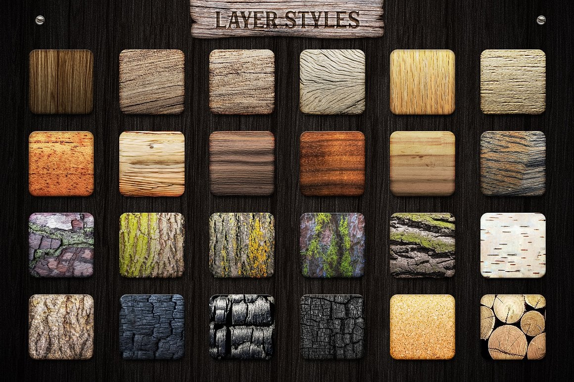 Wood Effect: WOODY Photoshop Design Kit - only $19 - view2