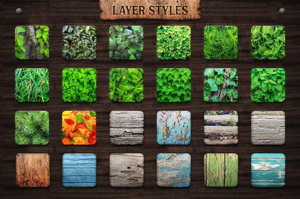 Wood Effect: WOODY Photoshop Design Kit - only $19 - view3