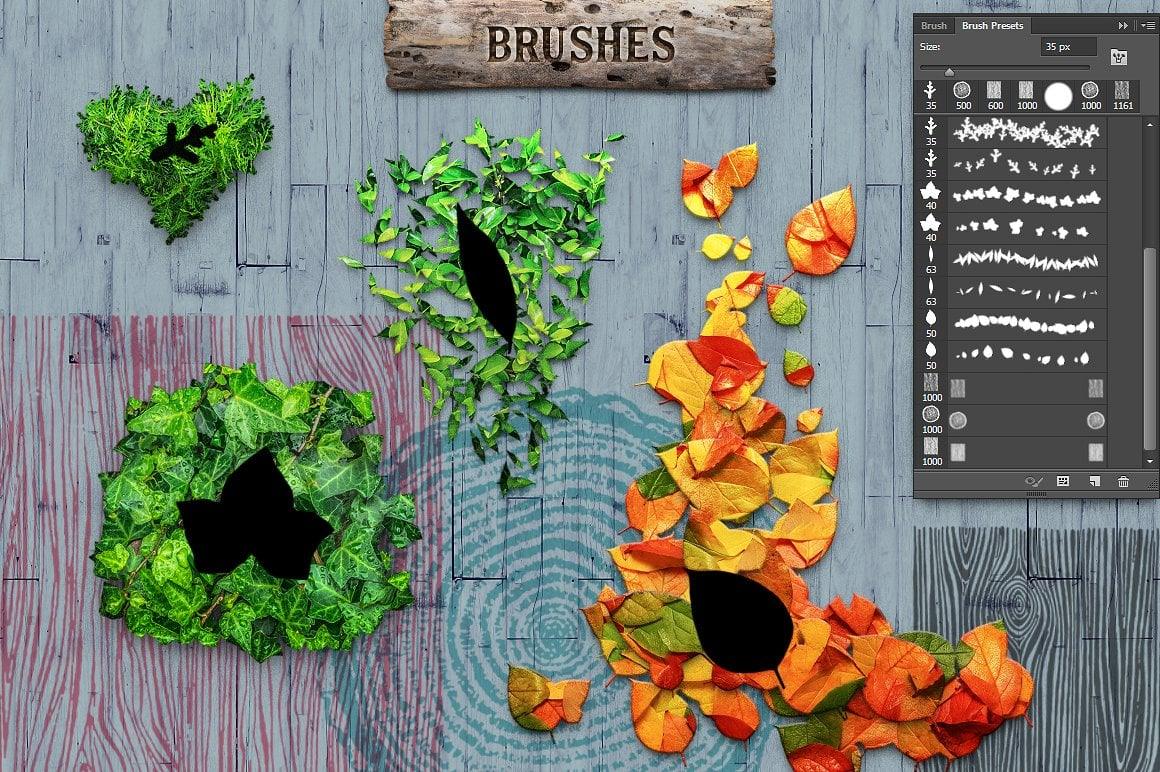 Wood Effect: WOODY Photoshop Design Kit - only $19 - view8