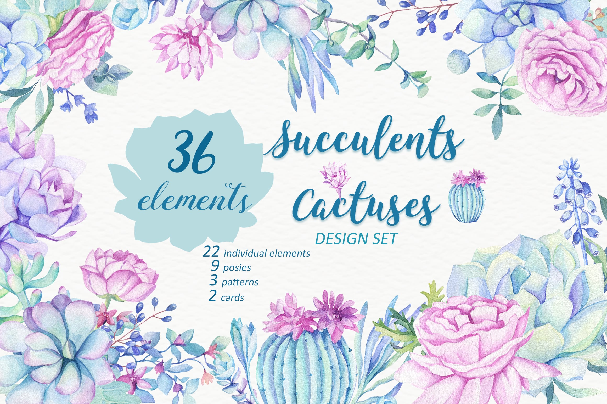 Succulents & Cactuses Design Set