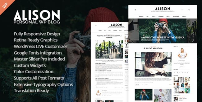15 WordPress Themes Bundle with Extended License - Only $19 - 1 alison