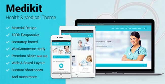 15 WordPress Themes Bundle with Extended License - Only $19 - 13 medikit