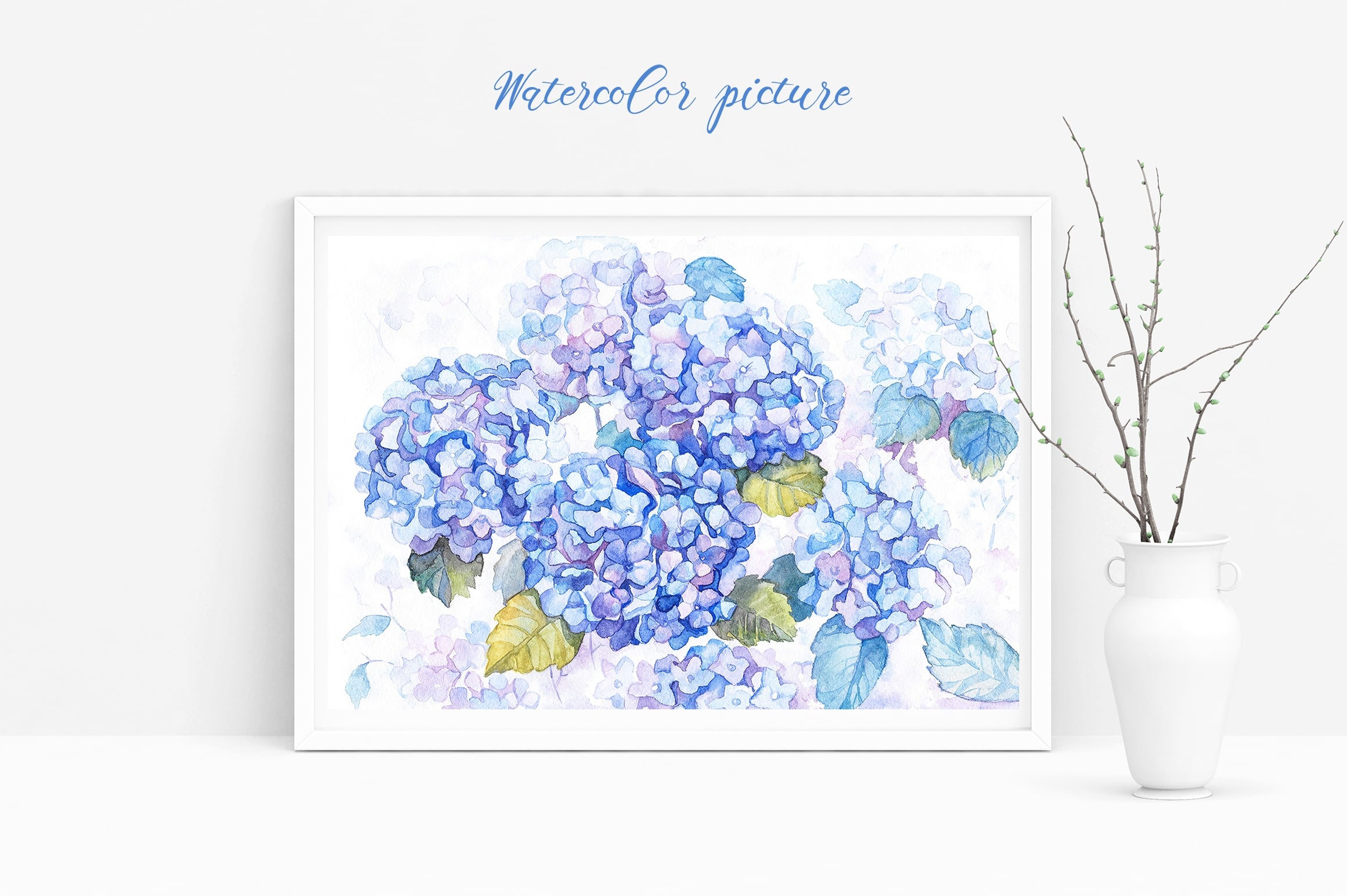 Hydrangea Watercolor Flowers