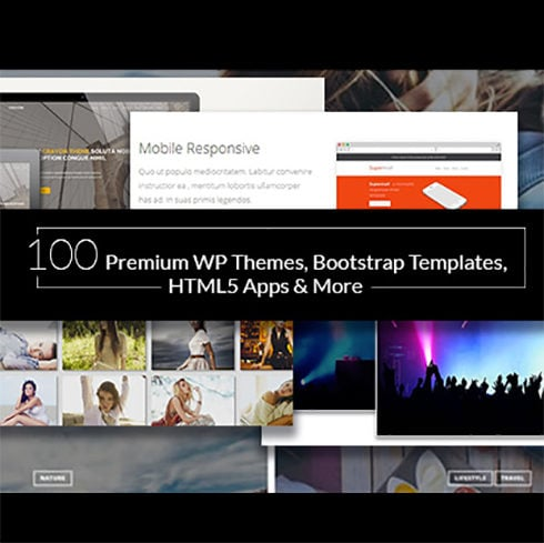 100 Premium WP Themes, Bootstrap Templates, HTML5 Apps & More – Only $29 - 490 2 490x489