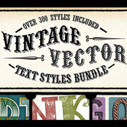 Vintage Bundle: Text Styles and Brushes