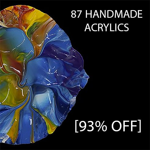 87 Handmade Golden Fluid Acrylics [93% Off] - 490 6