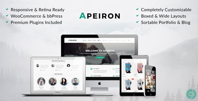 15 WordPress Themes Bundle with Extended License - Only $19 - 9 apeiron