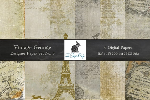 The Ultimate Creative Bundle - LPC Vintage Grunge 3 Preview