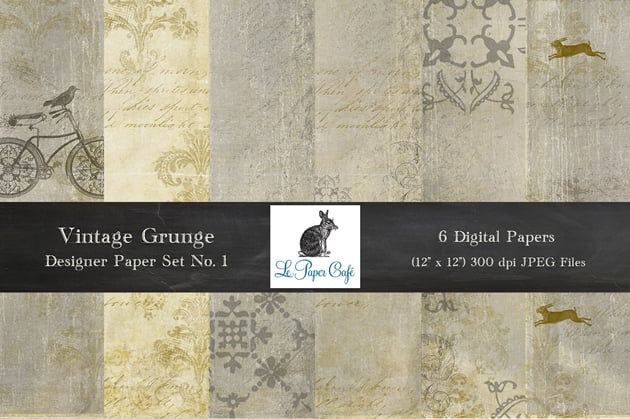 The Ultimate Creative Bundle - LPC Vintage Grunge No 1 Preview