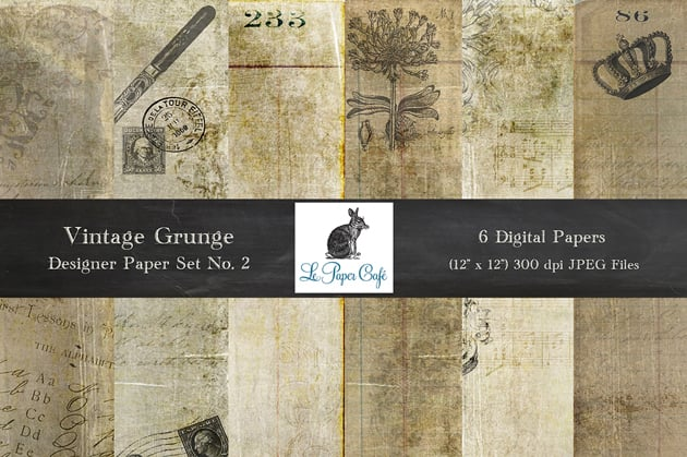 The Ultimate Creative Bundle - LPC Vintage Grunge No 2 Preview