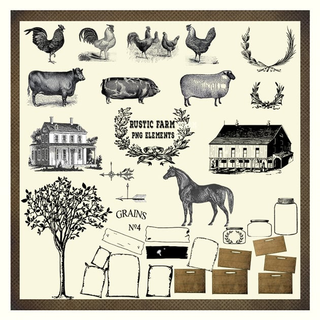 The Ultimate Creative Bundle - Rustic Farm PNG Preview
