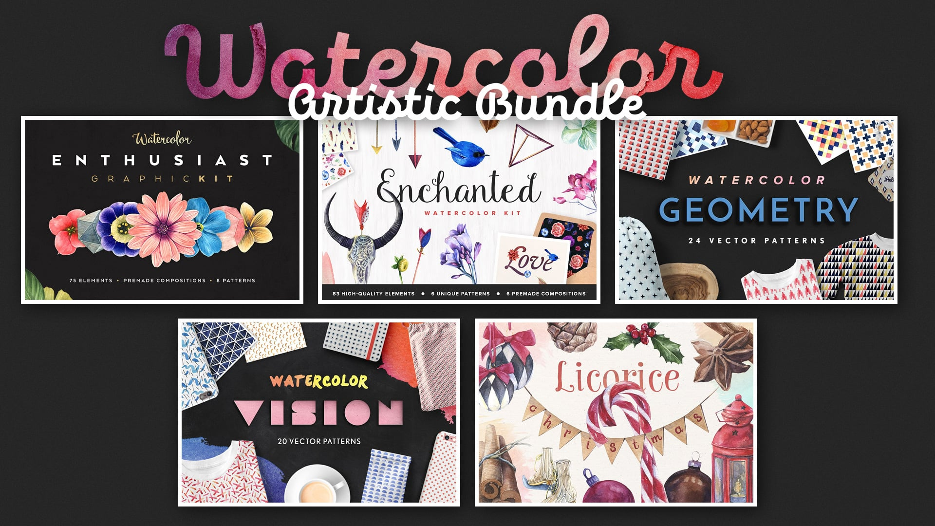Watercolor Artistic Bundle