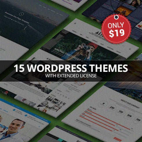 15 WordPress Themes Bundle with Extended License - Only $19 - bundle 490x490