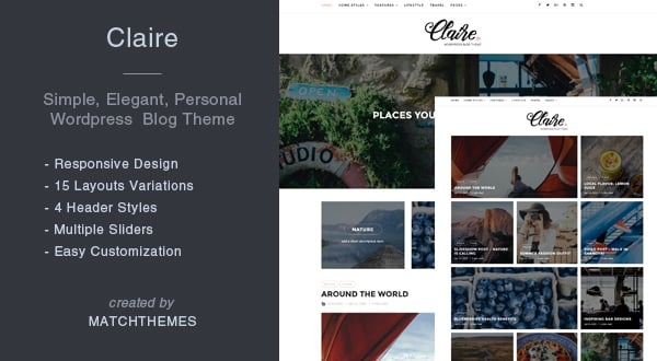 100 Premium WP Themes, Bootstrap Templates, HTML5 Apps & More – Only $29 - claire 600x330