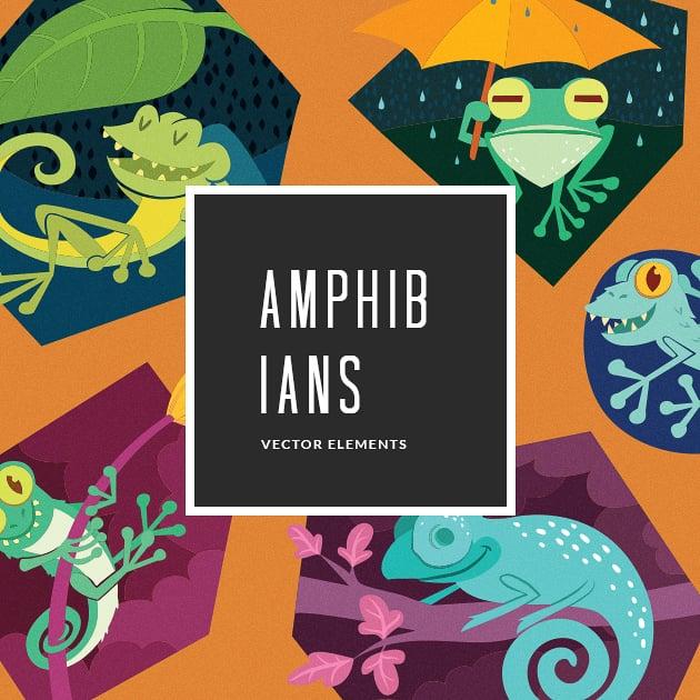 The Ultimate Creative Bundle - designtnt vector amphibians 5 small