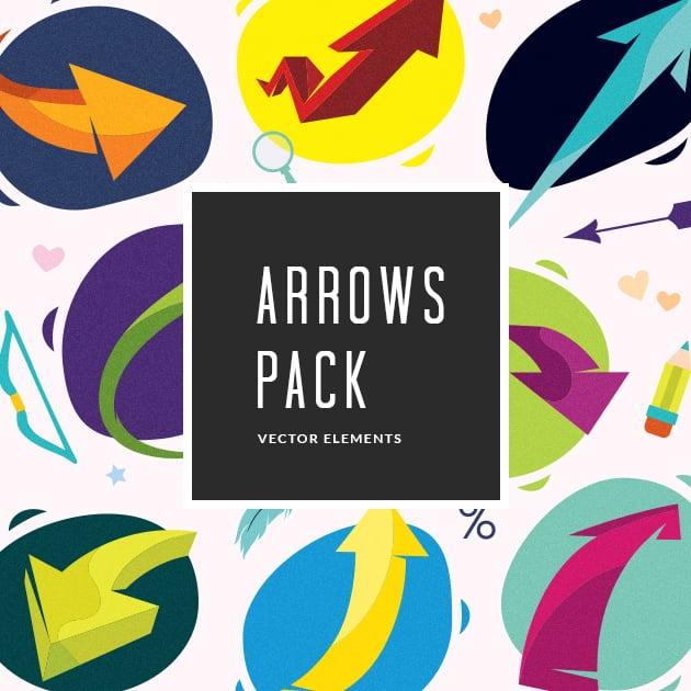 The Ultimate Creative Bundle - designtnt vector arrows small