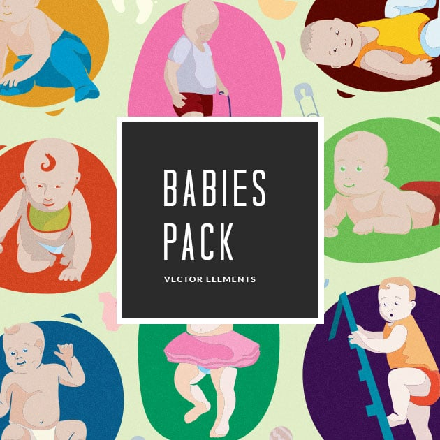 The Ultimate Creative Bundle - designtnt vector babies small