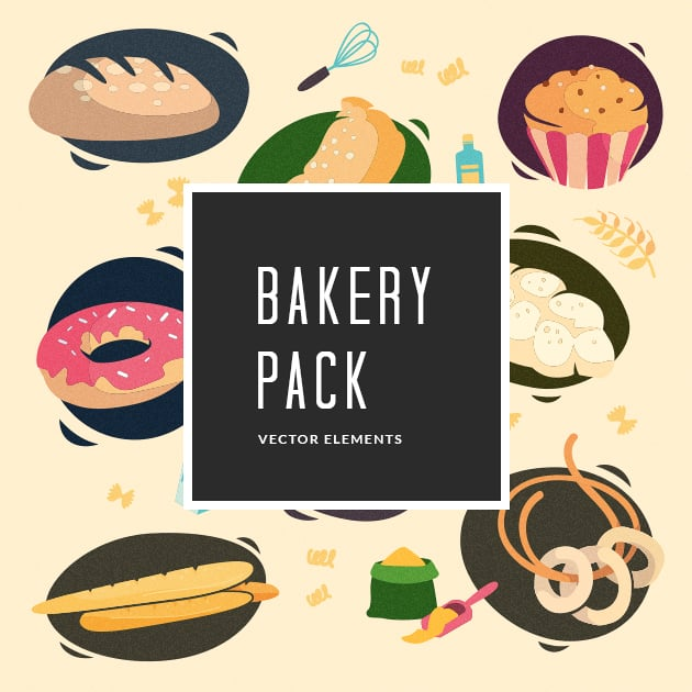 The Ultimate Creative Bundle - designtnt vector bakery small