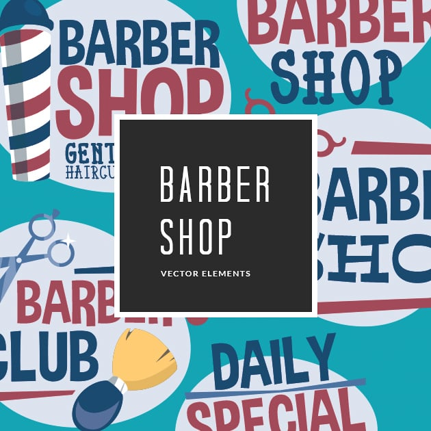 The Ultimate Creative Bundle - designtnt vector barber shop small